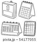 vector set of calendar 54177055