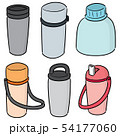 vector set of water bottle 54177060