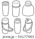 vector set of water bottle 54177063