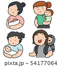vector set of mother and children 54177064