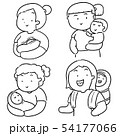 vector set of mother and children 54177066