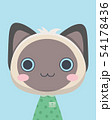 Cute siamese cat. 54178436