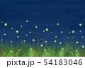 蛍 水彩背景 54183046