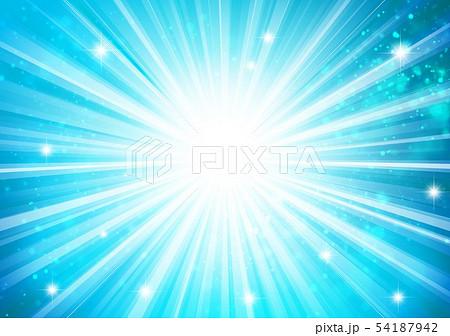 青色キラキライメージ放射状 54187942