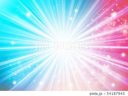 青色キラキライメージ放射状 54187943