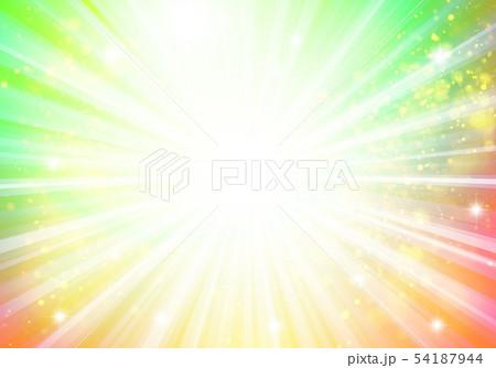 黄色オレンジ色キラキライメージ放射状 54187944