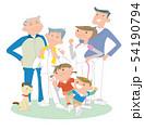 三世代家族、スポーツする。 54190794