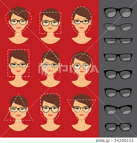 Different glasses shapes for different faces 54200213