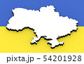 3D map of Ukraine on the national flag 54201928