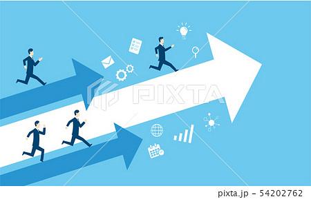 独走するビジネスマンのビジネスイメージ 54202762