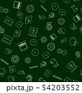 Back to school, vector seamless pattern, square 54203552