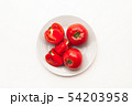 Sliced Fresh ripe tomatoes on a plate 54203958