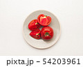 Sliced Fresh ripe tomatoes on a plate 54203961