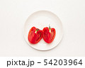 Sliced Fresh ripe tomatoes on a plate 54203964