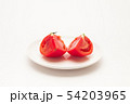 Sliced Fresh ripe tomatoes on a plate 54203965