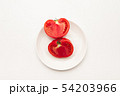 Sliced Fresh ripe tomatoes on a plate 54203966
