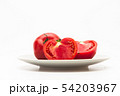 Sliced Fresh ripe tomatoes on a plate 54203967