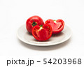 Sliced Fresh ripe tomatoes on a plate 54203968