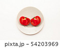 Sliced Fresh ripe tomatoes on a plate 54203969
