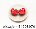 Sliced Fresh ripe tomatoes on a plate 54203970