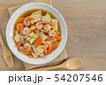 stir fried king oyster mushroom with shrimp. 54207546