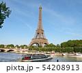 パリ エッフェル塔とセーヌ川 54208913