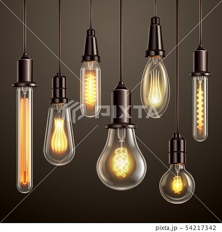 Light Bulbs Realistic Set  54217342