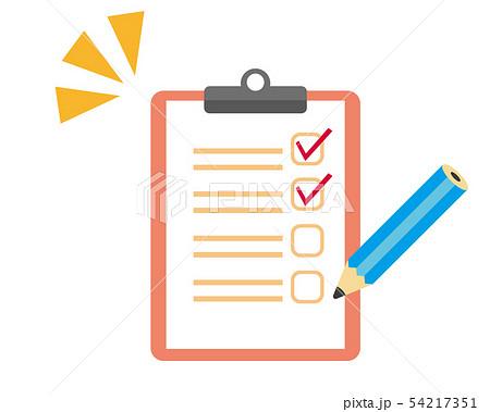 アンケート メモ 調査 チェック アンケート用紙 バインダー 鉛筆 えんぴつのイラスト素材 [54217351] - PIXTA