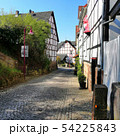 street with old houses in historic city of Kaufungen, Germany 54225843
