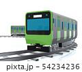 CG 3D イラスト 立体 デザイン 日本 東京 交通 乗り物 電車 山手線のイメージ 54234236