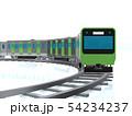 CG 3D イラスト 立体 デザイン 日本 東京 交通 乗り物 電車 山手線のイメージ 54234237