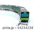 CG 3D イラスト 立体 デザイン 日本 東京 交通 乗り物 電車 山手線のイメージ 54234238