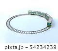 CG 3D イラスト 立体 デザイン 日本 東京 交通 乗り物 電車 山手線のイメージ 54234239