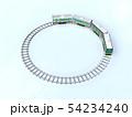 CG 3D イラスト 立体 デザイン 日本 東京 交通 乗り物 電車 山手線のイメージ 54234240