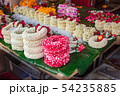 Thai style flower garland made of flowers. 54235885