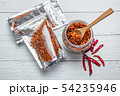 Pork crackling chili paste with the ingredient. 54235946