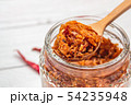 Pork crackling chili paste with the ingredient. 54235948