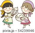 お菓子を作る女の子 54239046