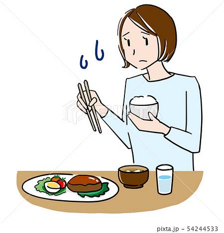 食欲がない女性 54244533