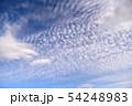 空の背景素材。青空、美しい雲、光。 54248983