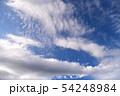 空の背景素材。青空、美しい雲、光。 54248984