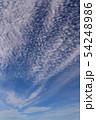 空の背景素材。青空、美しい雲、光。 54248986
