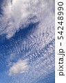 空の背景素材。青空、美しい雲、光。 54248990