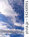空の背景素材。青空、美しい雲、光。 54248991