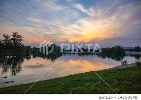 Jarun Lake sunset 54250549