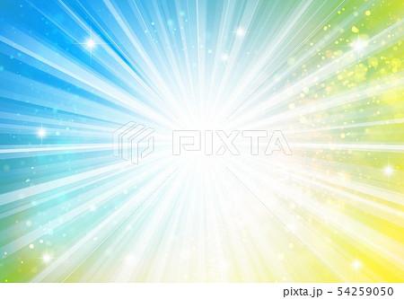 黄色青色キラキライメージ放射状 54259050