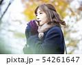 女性 アジア人 冬の写真 54261647