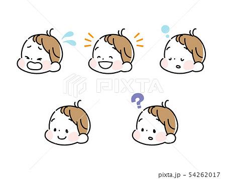 男の子の赤ちゃん表情セット 54262017
