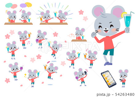 animal mouse boy_Drink party 54263480