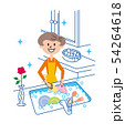 皿洗い 主婦 イラスト 54264618